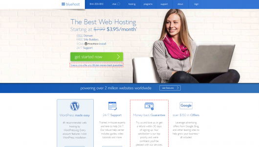 bluehost screenshot